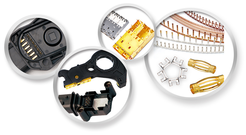 automotive-components, electronic-components, metal-stamping, insert-molding, progressive-dies, plastic-molds
